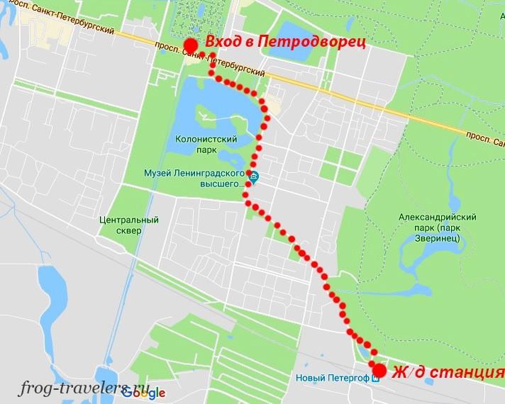 Как доехать до Петергофа из Санкт-Петербурга на электричке