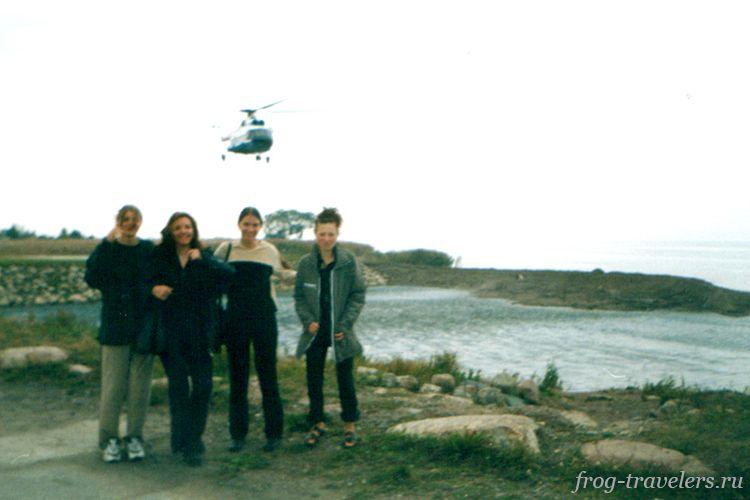 Вертолёт в Петергоф