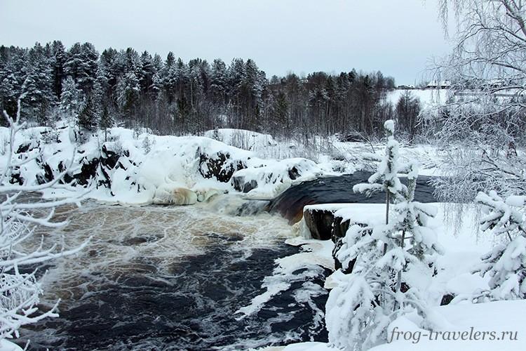 Водопад Воицкий падун Карелия
