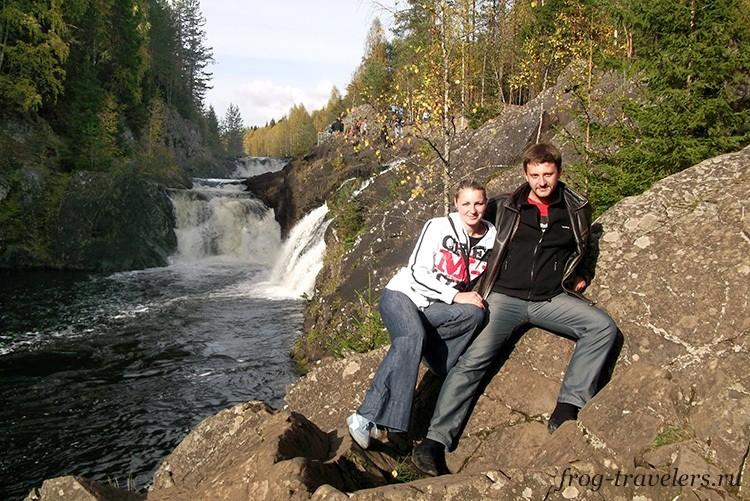 Водопад Кивач осенью