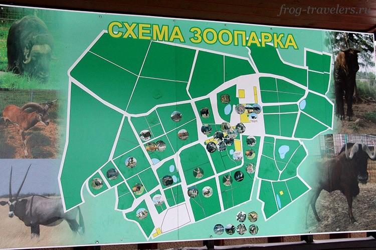 Карта-схема зоопарка в Карелии
