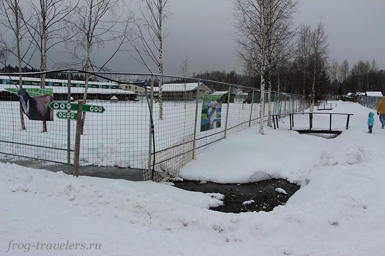 Канавки в Карельском зоопарке