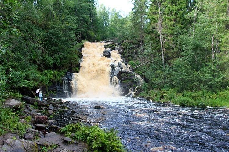 Водопад Белые Мосты, Карелия