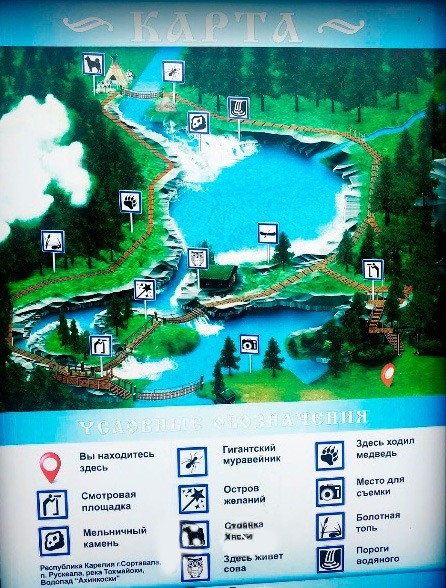 Водопады Ахвенкоски - карта