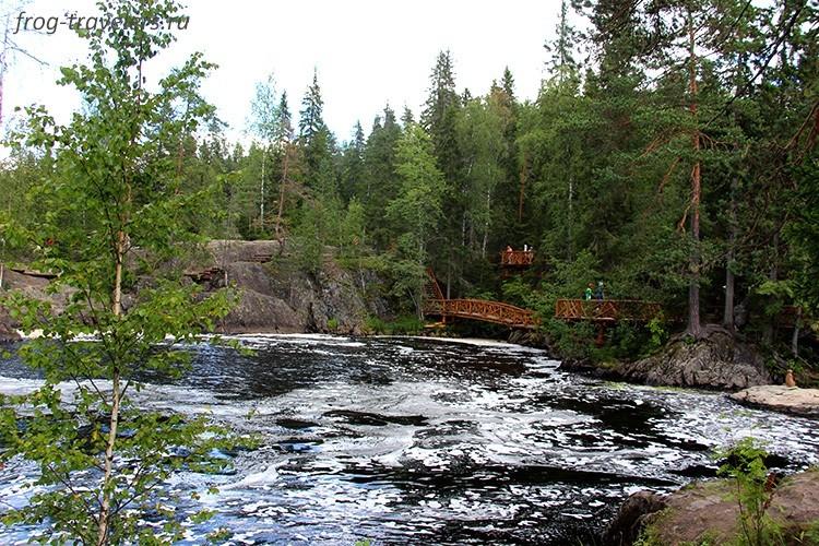 Экотропа Рускеальские водопады