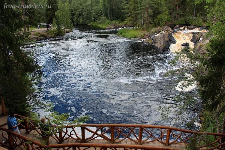 Водопады Ахинкоски, Карелия