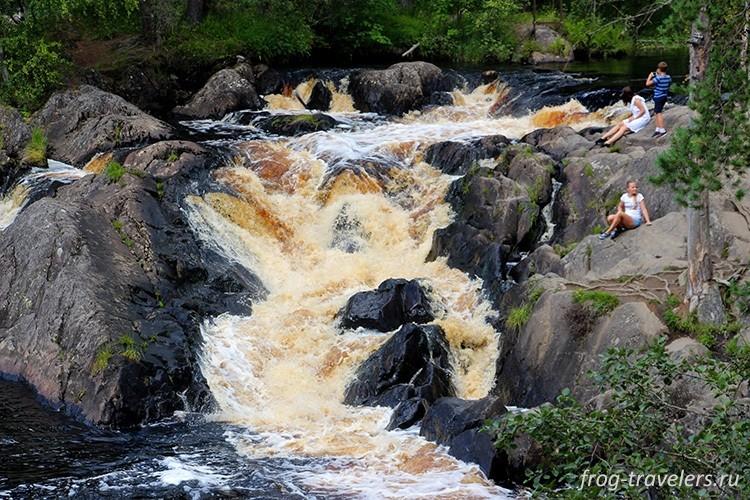 Водопад Ахинкоски, Карелия