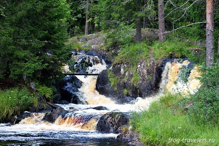 Водопад Ахвенкоски, Карелия