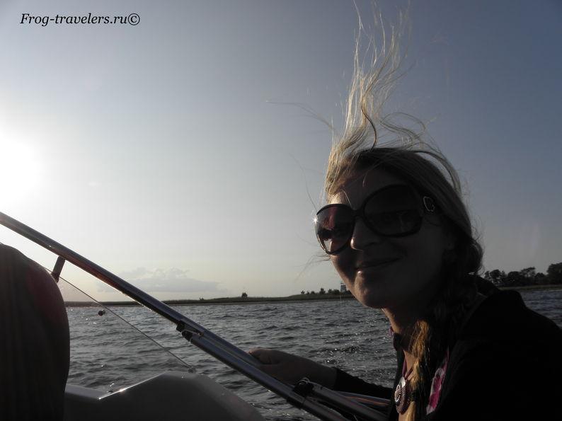 На катере по Ладожскому озеру
