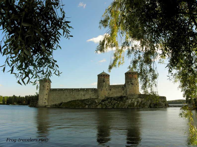 Финляндия Савонлинна крепость Олафсборг фото
