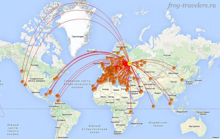 Карта лоукостеров от Буруки