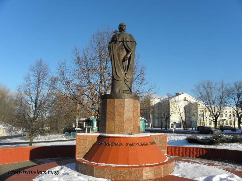 Достопримечательности Полоцка на карте. Памятник Евфросинии Полоцкой