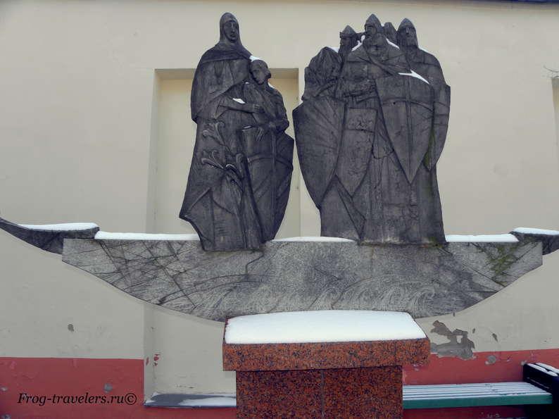 Достопримечательности Полоцка на карте. Памятник кривичам – основателям Полоцка и художественная галерея