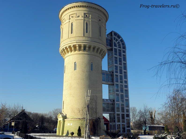Достопримечательности Полоцка на карте. Бывшая водонапорная башня (ныне природно-экологический музей)
