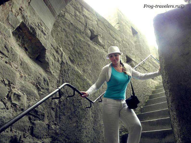 Франция. Город-крепость Каркассон (Каркасон). Средневековый замок в Лангедоке. Верхний город Сите. Крепостные стены