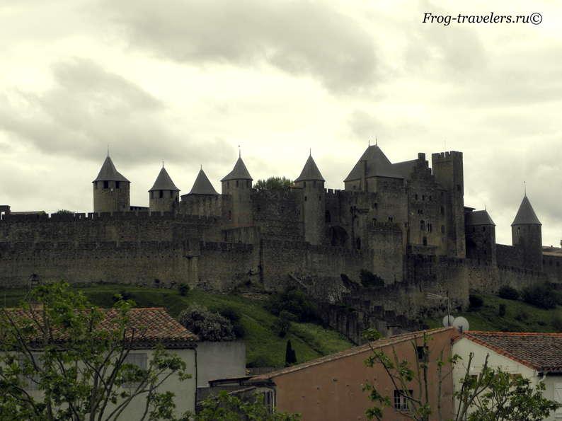 Франция. Город-крепость Каркассон (Каркасон). Средневековый замок в Лангедоке