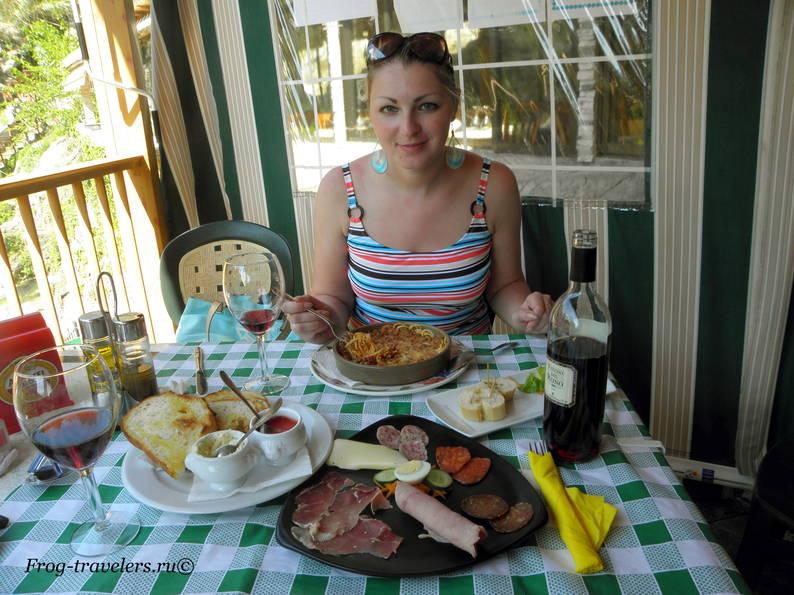 Меню дня в ресторане «Les Fonts» Испания, Аликанте