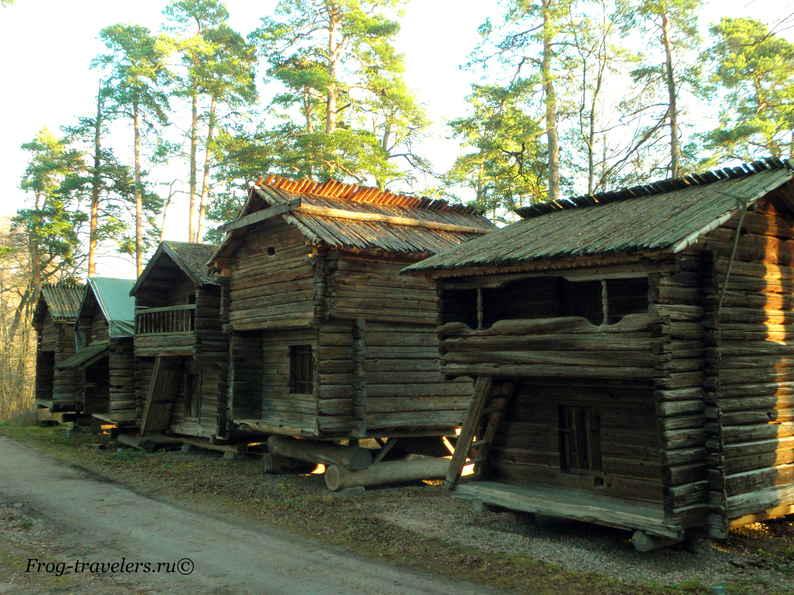 Настоящие финские домики в музее зодчества в Хельсинки