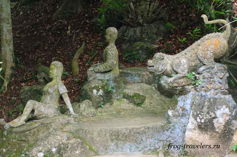 Скульптуры в Магическом саду Будды на Самуи