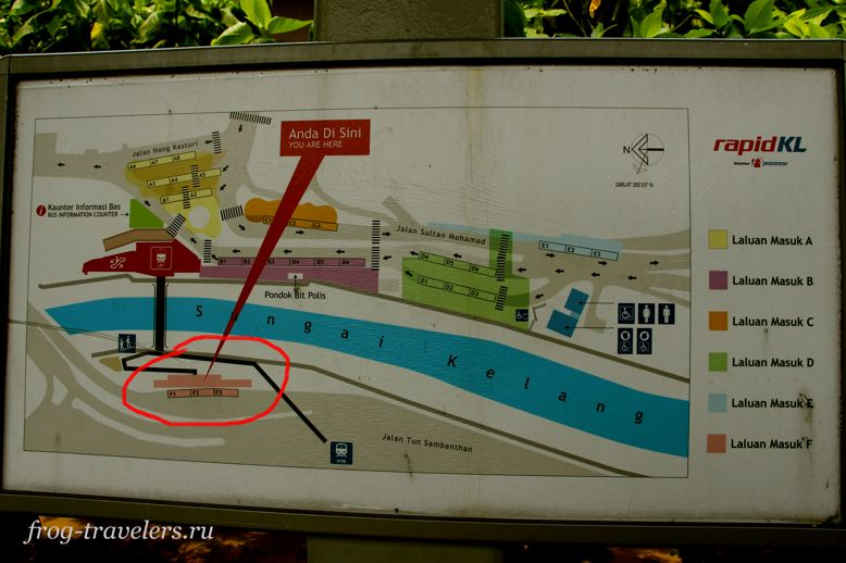 Схема автостанции Куала-Лумпур