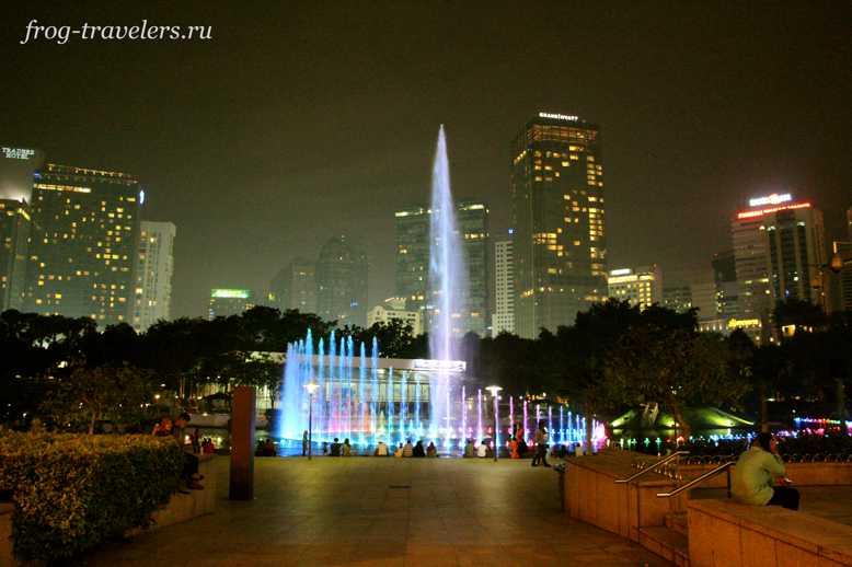 Шоу фонтанов в Малайзии