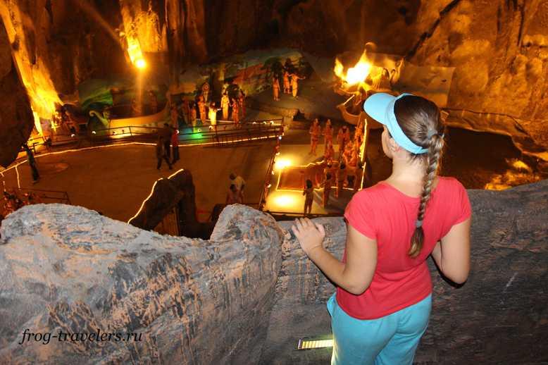 Марина Саморосенко в Пещерах Бату