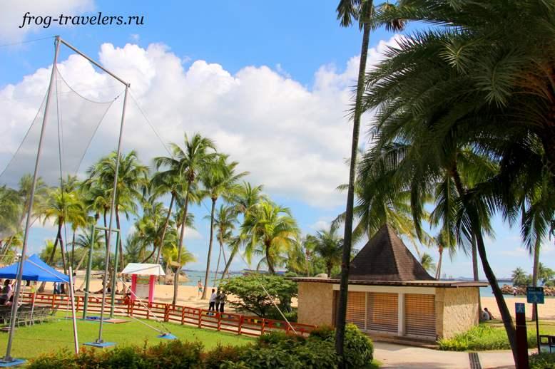 Пляжи острова Сентоза Beach Siloso