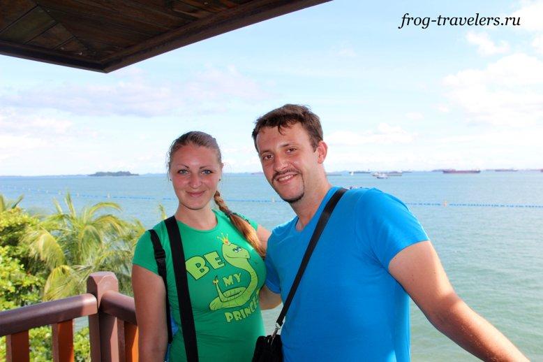 Марина и Костя Саморосенко в южной точке Евразии
