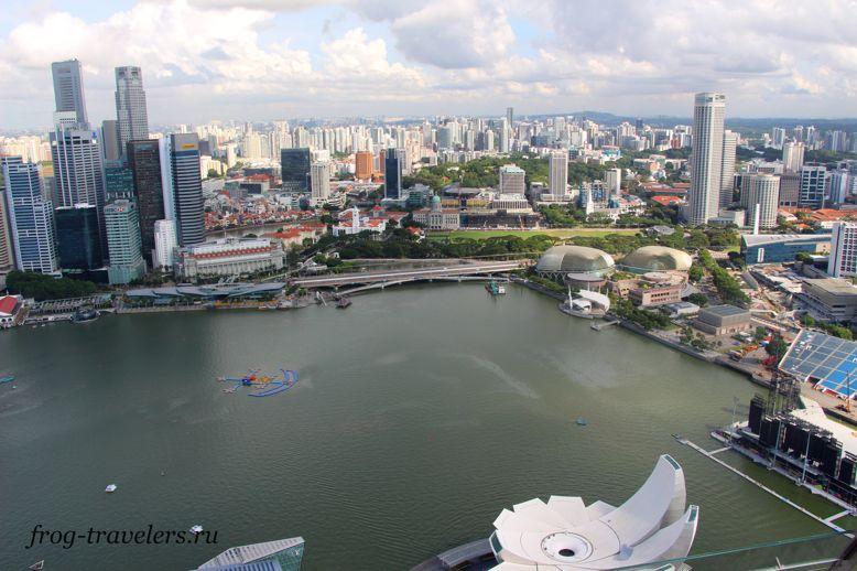 Сингапур бухта Марина Бэй