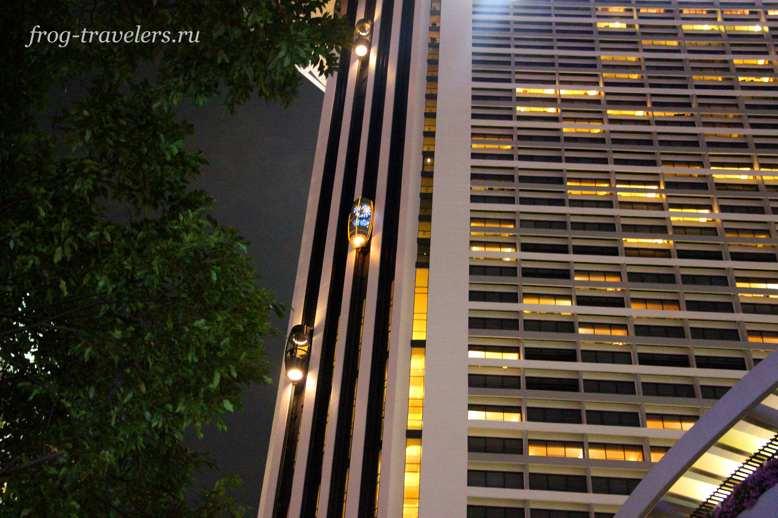 Отель Pan Pacific Singapore лифт-капула