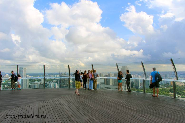 Смотровая площадка - нос корабля в Сингапуре