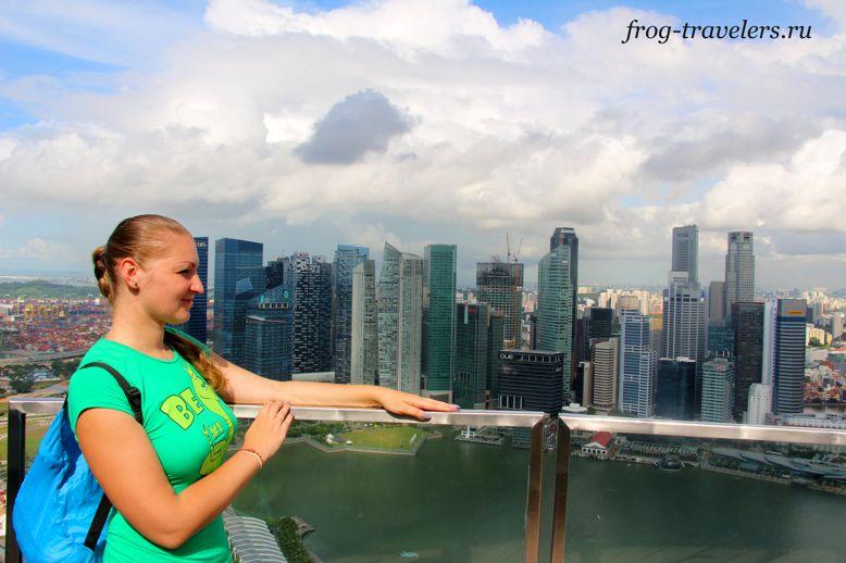 Марина Саморосенко в Сингапуре