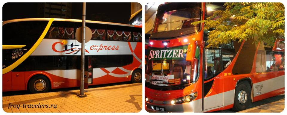 Автобусы Тайланд-Малайзия-Сингапур