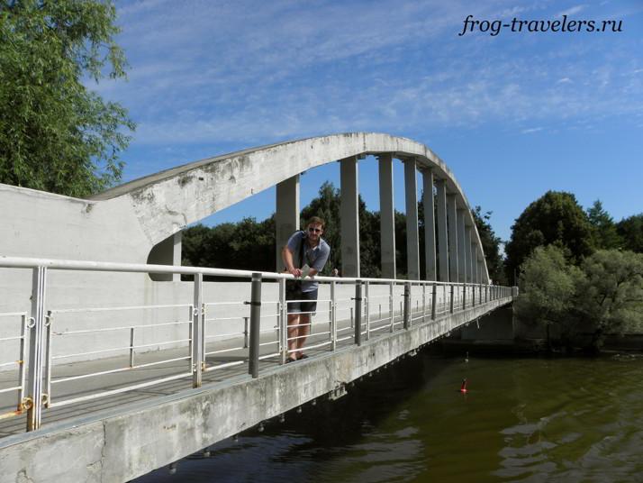 Арочный (горбатый) мост река Эмайга