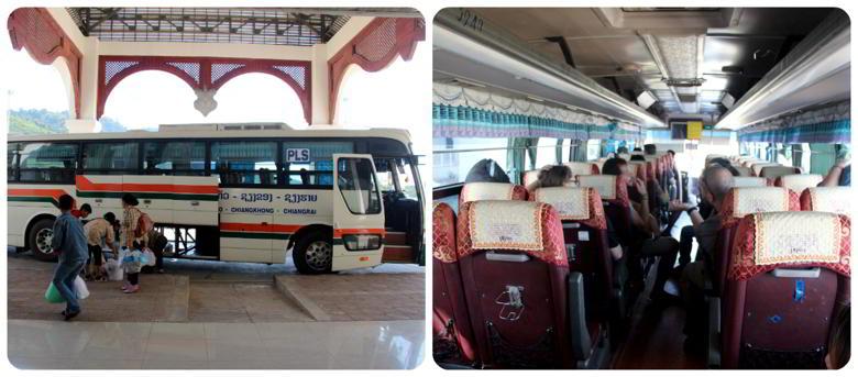 Приграничный автобус из Тайланда в Лаос