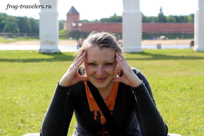 Марина Саморосенко наслаждается Великиким Новгородом