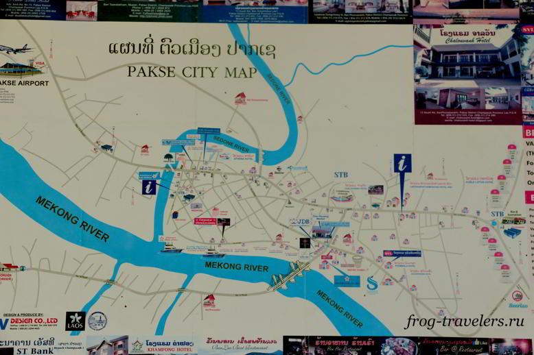 Достопримечательности Паксе на карте
