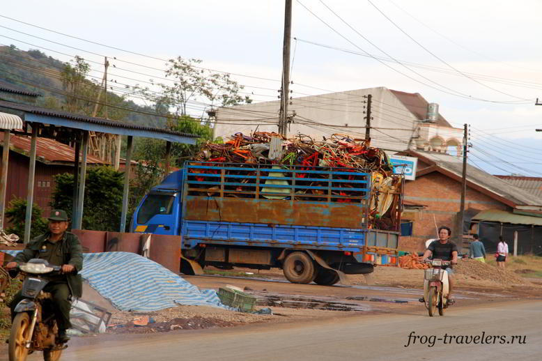 Город Паксонг Лаос