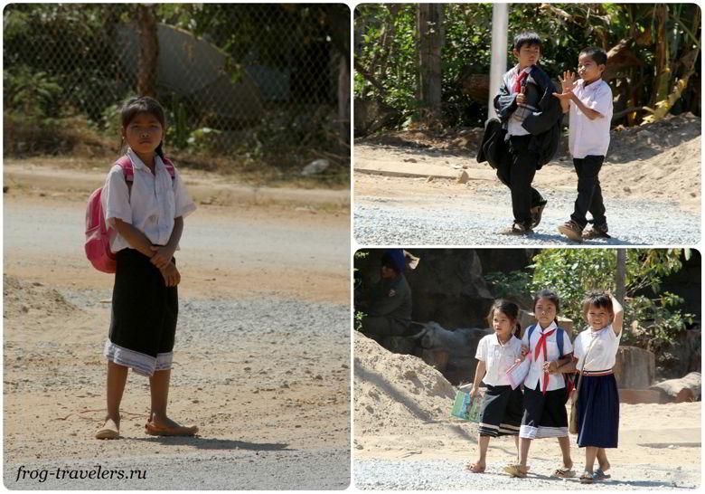 Дети и школьники Лаоса