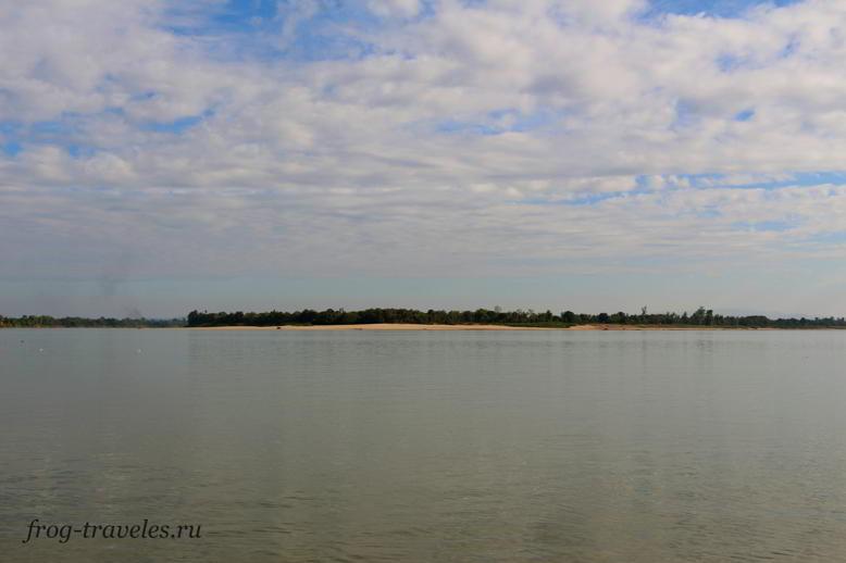 Остров Дон Денг на Меконге