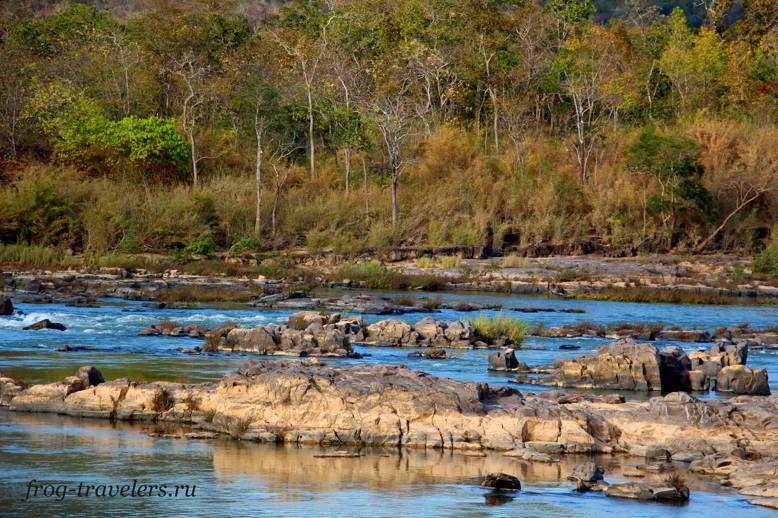 Пороги на реке Секонг Лаос