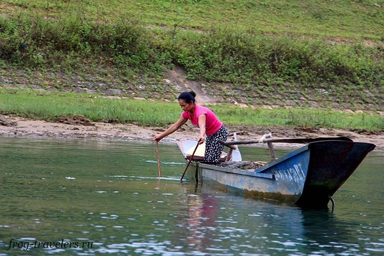 Жители вьетнамской деревни