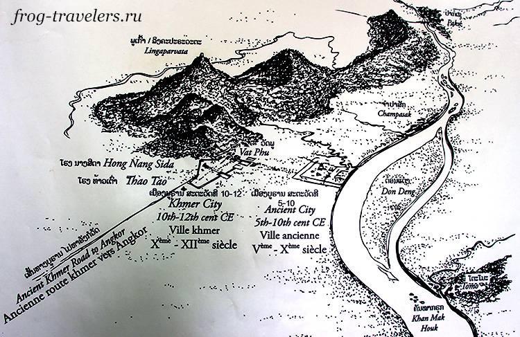 Схема-карта Ват Пху