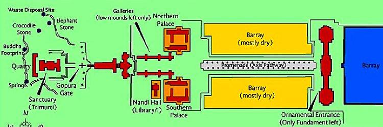 Схема храма Ват Пху