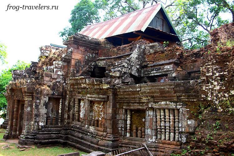 Руины Wat Phou Лаос