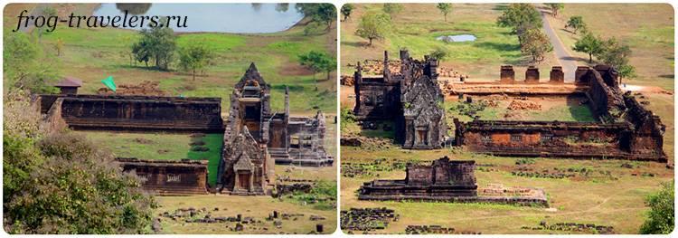 Южный и северный храмы Ват Пу