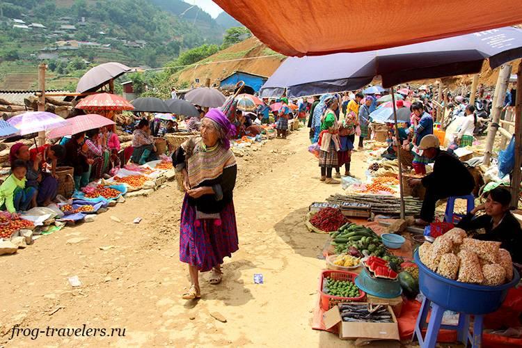 Рынок Кан Кау север Вьетнама Лаокай
