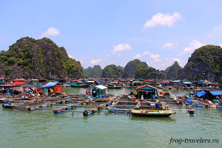 Рыбацкая деревня в бухте Халонг