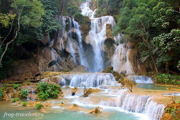 Водопад Куанг Си Луанг Прабанг Лаос фото