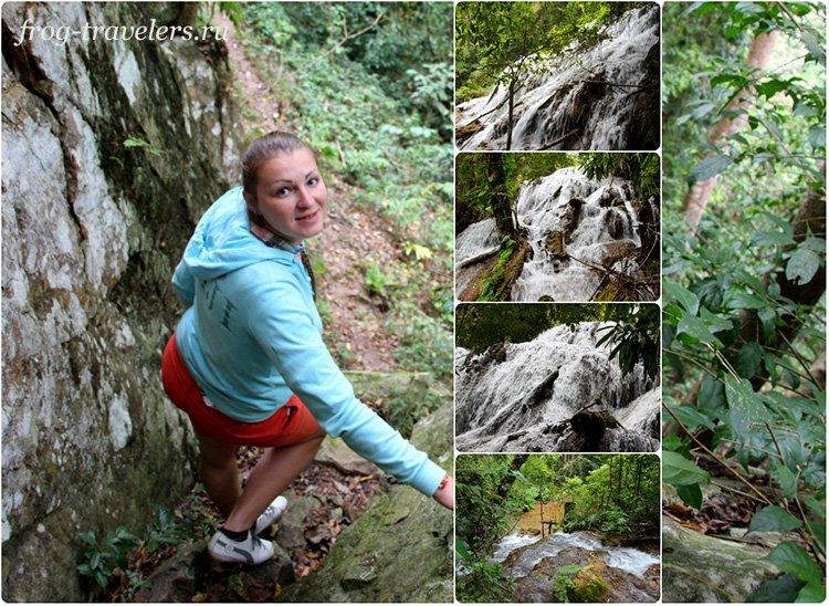 Водопад Tad Kha Waterfall